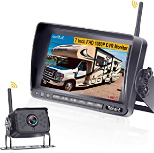Rohent FHD 1080P Digital Wireless Backup Camera with 7