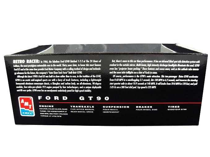 Amazon Com Ertl Amt Ford Gt V Quad Turbo  Scale Model White Plastic Ertl Promo Collectors Item Toys Games