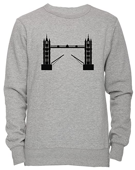 Londres Torre Puente Unisexo Hombre Mujer Sudadera Jersey Pullover Gris Tamaño S Unisex Mens Womens Jumper
