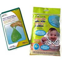 Diaper Disposal Bags and Disposable Bibs Diaper Bag Bundle of 2