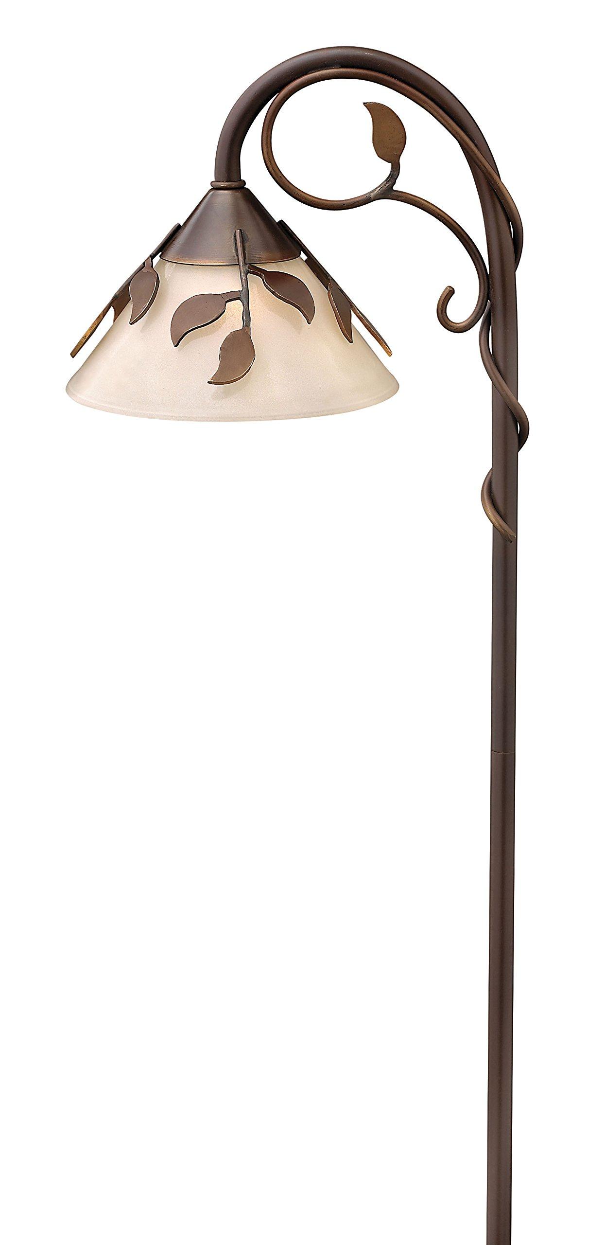 Hinkley Lighting 1508CB Solid Brass Ivy Path Light, 18 Watt T5 Wedge Base Light Bulb, Copper Bronze