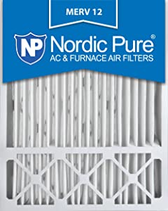 Nordic Pure 20x25x5 (4-3/8 Actual Depth) MERV 12 Lennox X6673 Replacement AC Furnace Air Filter, Box of 2, 2 Piece