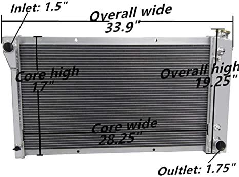 Thermostat For Chevy GMC K15//K1500 35//3500 Pickup 68-72 US 3Row Radiator+Shroud