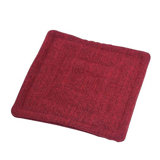 acerto 40416 Cojín de fieltro de lana - 40x40cm rojo 100 ...
