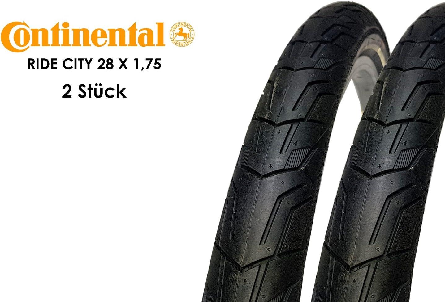 Reflex schwarz E-25 Draht 2 x  Continental Reifen 28x1.75  47-622 RIDE Tour