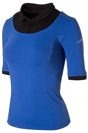 Naffta Tennis&Paddle Camiseta de Manga Larga, Mujer, Azul Francia/Negro, ...