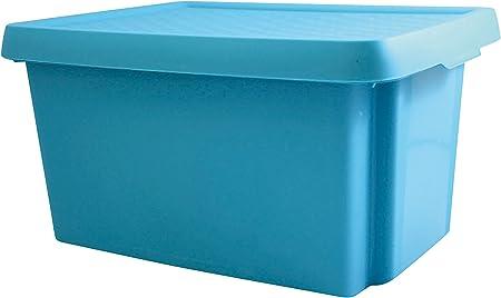 Curver 6302090 Essentials - Caja de almacenaje plástico azul 39 x 30 x 21cm, 16 L: Amazon.es: Hogar