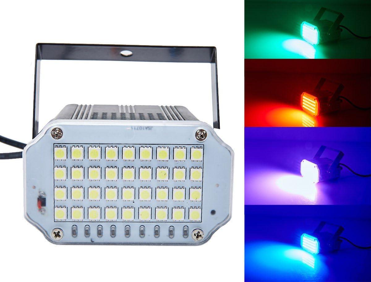 36 geführt Mini Strobe Light,Latta Alvor Ultra Bright Stage Light Flash Strobe Lights mit Sound Activated und Speed Control für Party Wedding Dj Disco Ktv Bars Lights (Multil)