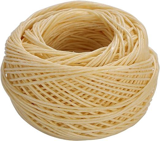 SUPVOX 61M Cordón de algodón Encerado Mecha de cáñamo Mechas Velas ...