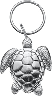 product image for DANFORTH - Sea Turtle Keyring - Pewter - Key Fob - 2 Inches - Handcrafted - Made in USA