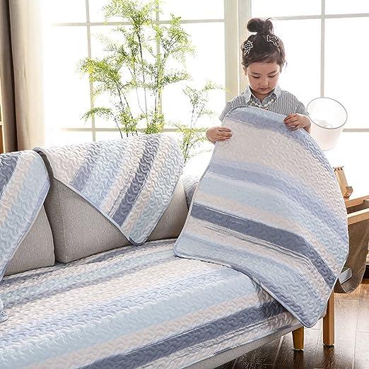 NS&SBZZ Toalla de sofá,Sofá sofá Amortiguador Simple Moderno Antideslizante Funda algodón Tela sofá Cubre alfombras Multi-Size sofá Fundas sofá Brazo Cubre-L 70 * 70cm*2(28 * 28inch): Amazon.es: Hogar