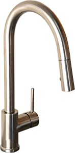 Newport Brass 8200-5113/15S Newport 365 Bronwen OutFaucet Pull Out Kitchen Faucet, Satin Nickel