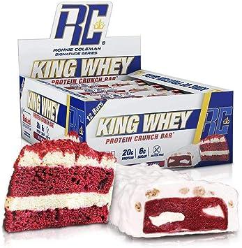 Barritas de proteínas de Rcss King Whey Protein Bar Proteinriegel Proteína 20 g de proteína por barrita, 12 x 57 g (Red Velvet Cake).: Amazon.es: Salud y cuidado personal