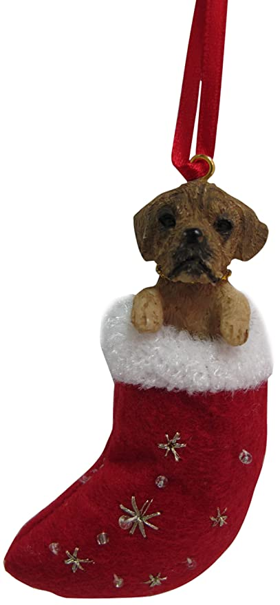 Image Unavailable. Image not available for. Color: Puggle Christmas  Stocking Ornament ... - Amazon.com : Puggle Christmas Stocking Ornament With