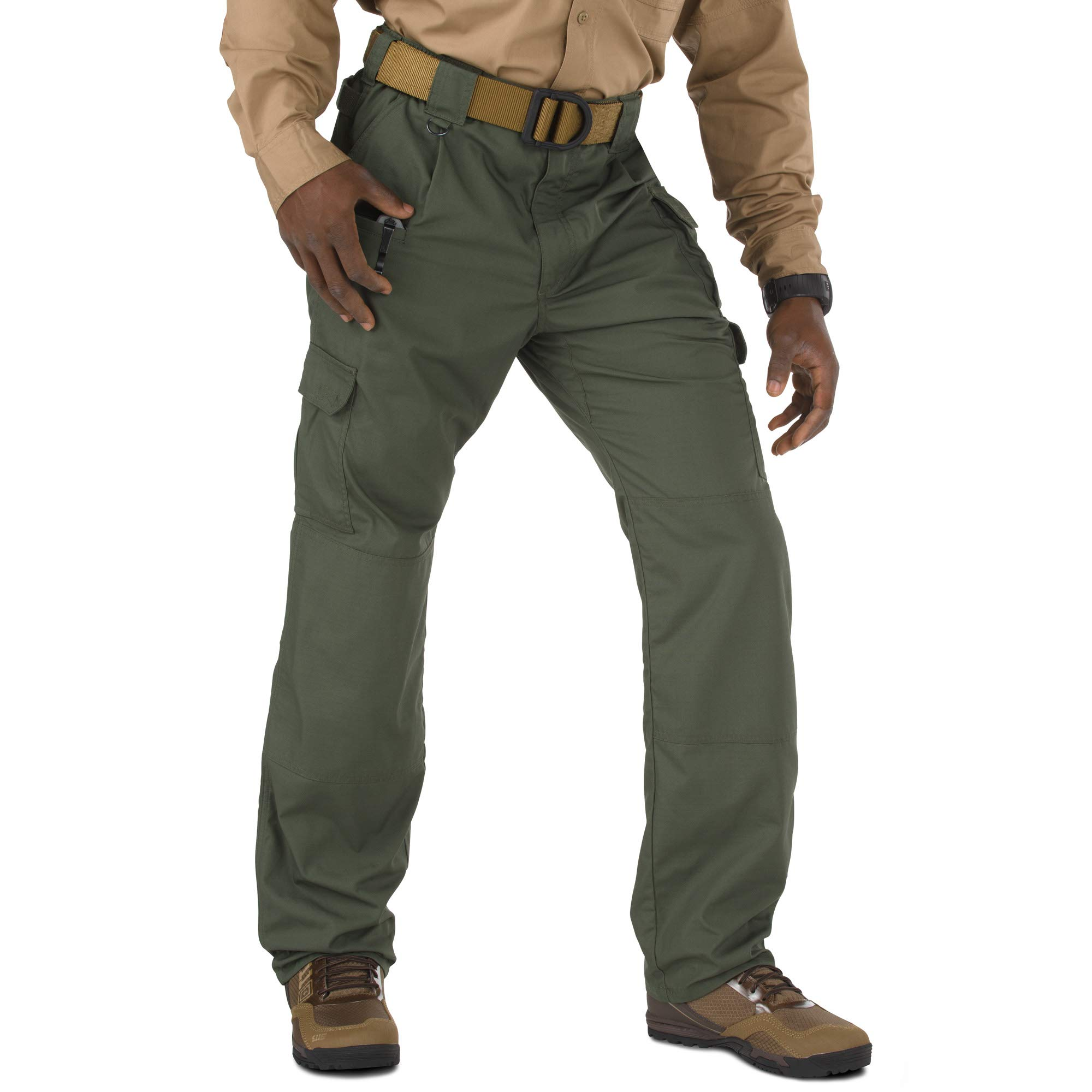 5.11 Men's Taclite Pro Tactical Pants, Style 74273, TDU Green, 46W Unhemmed