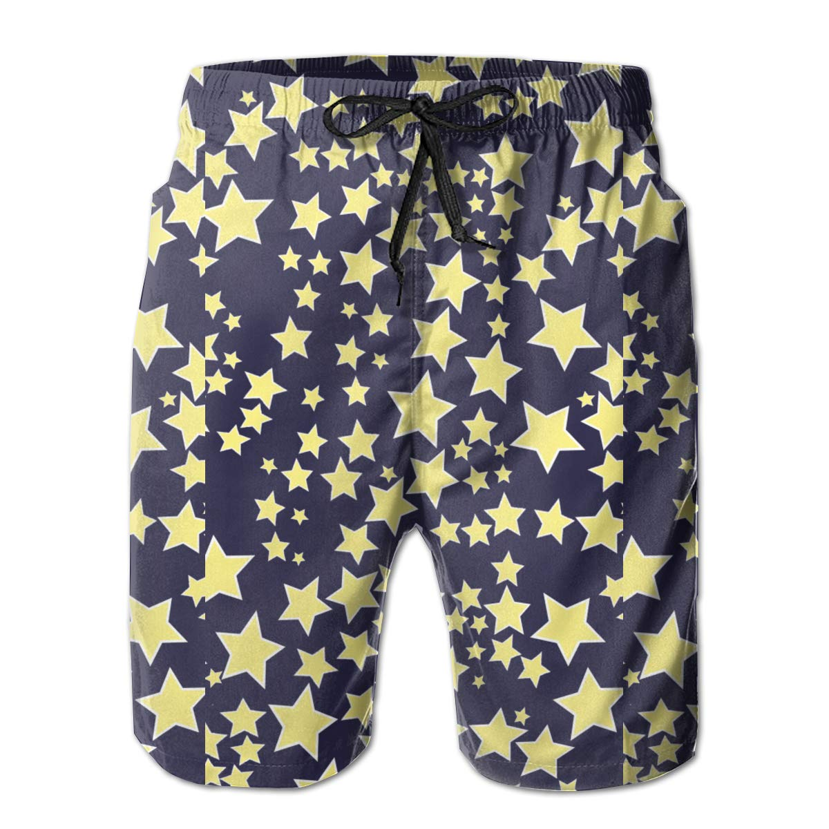 Starry Sky Stars Design Mens Summer Beachwear Sports Running Swim Board Shorts Mesh Lining