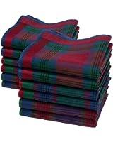 """Mouchoirs en tissu homme """"Jules"""" - 12 unités 40cm x 40cm"""