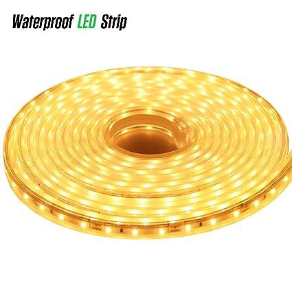 LUXJET 12V 16.4ft LED Rope Lights Under Cabinet Strip Light Kit, IP65  Waterproof 2835SMD