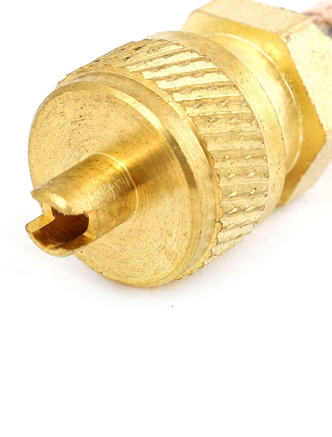 5 mm OD Tubo de aire del refrigerador de acceso a la v/álvula tono de cobre