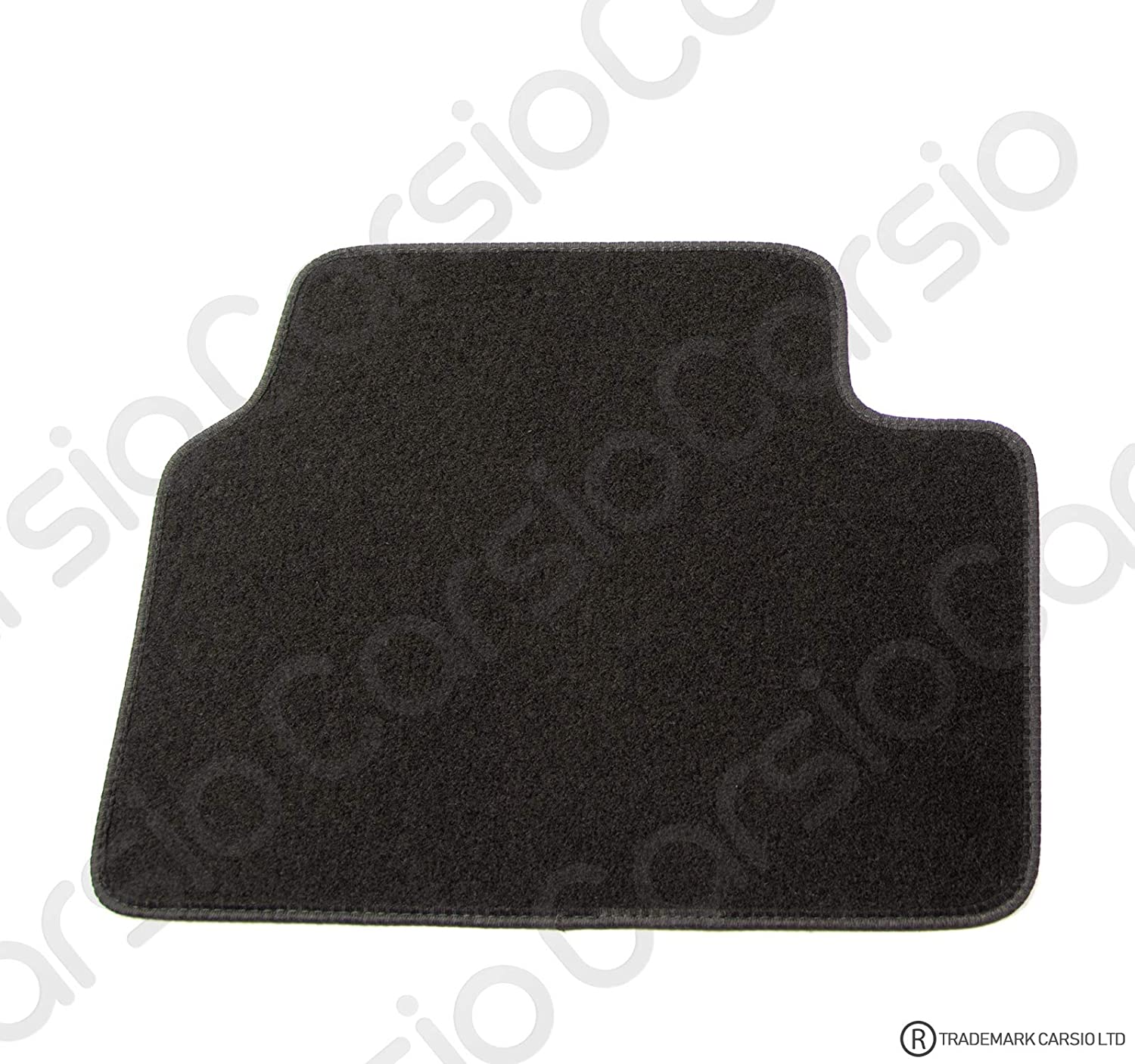 Carsio Tailored Black Carpet Car Mats for Vectra C//Signum 2003 to 2008-4 Piece Set With 4 Clips