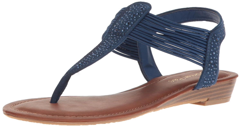 DREAM PAIRS Women's Spark Wedge Sandal B06XDFFM8N 9 B(M) US|Navy Suede