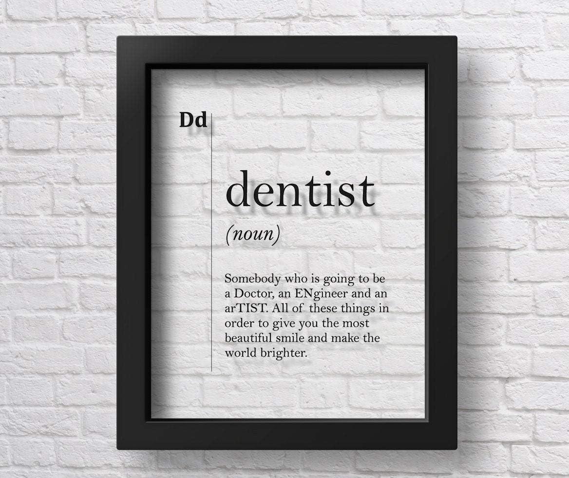 Marchak Transparent Dentist Definition Poster Dental Office