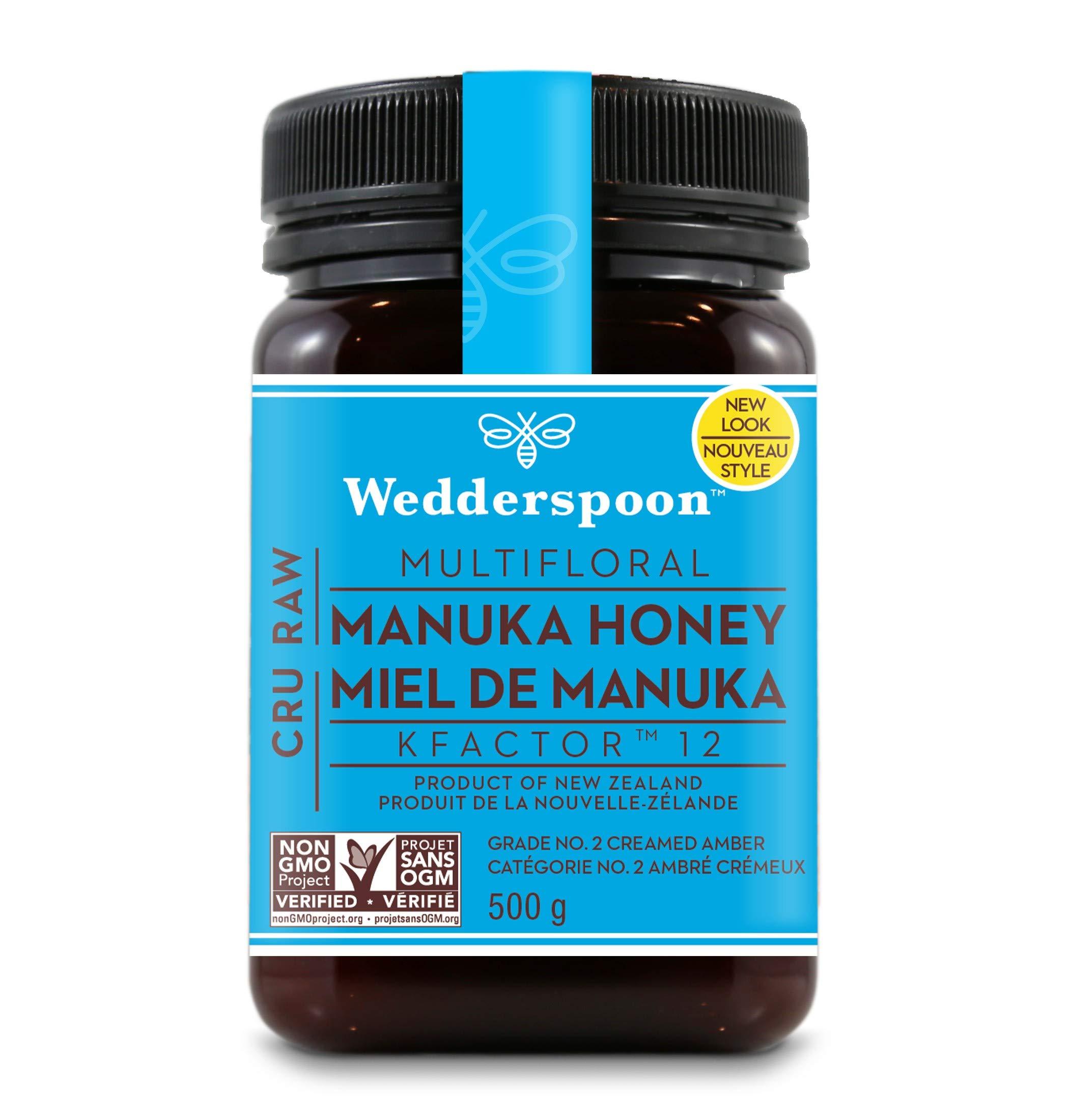 Wedderspoon Raw Premium Kfactor 12 Manuka Honey, 17.6 Ounce