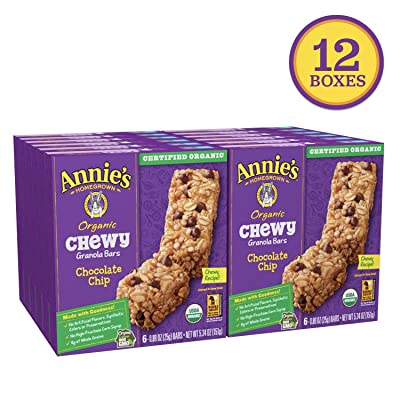 Annie's Organic Chewy Chocolate Chip Granola Bars 6 ct (pack of 12) : Grocery & Gourmet Food