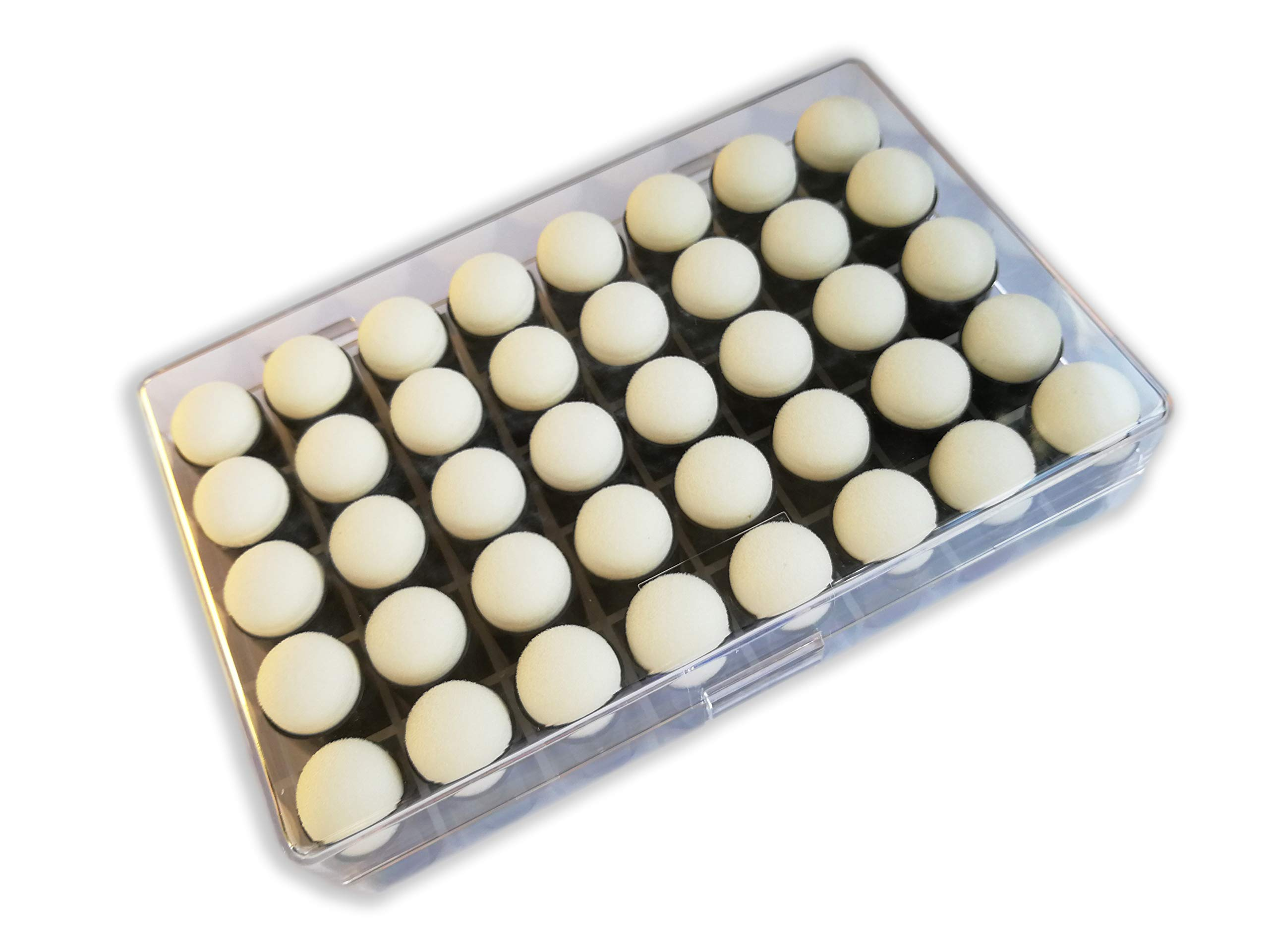 Actopus 40pcs Finger Sponge Daubers with Box for Drawing Craft Painting Supplies by Actopus