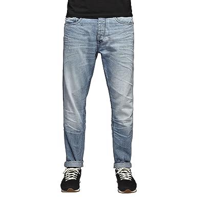 7385d5346d0 Jack & Jones Men's Erik Original Anti Fit Light Wash Denim Jeans 34W X 34L  Light