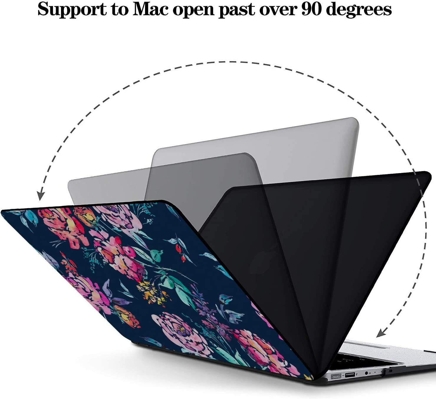 MacBook Air Case Rose Red Retro Romatic Spring Peony Plastic Hard Shell Compatible Mac Air 11 Pro 13 15 New MacBook Air Case Protection for MacBook 2016-2019 Version