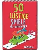 Moses 50 lustige Spiele für unterwegs, Kinderbeschäftigung, Kartenset