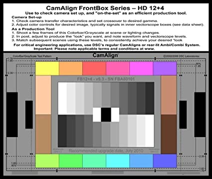 Amazon Frontbox 124 Hd 169 Camera Alignment Test Chart