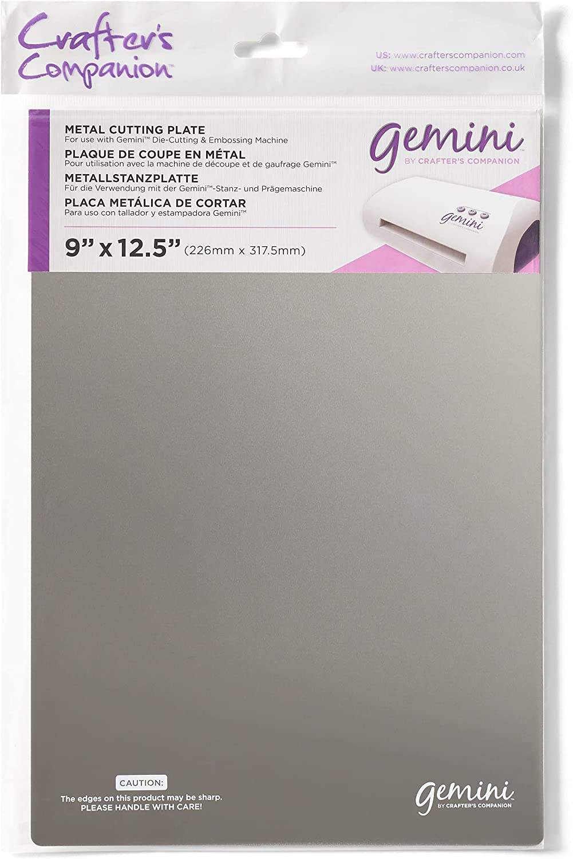 Crafter's Companion Accesorios Gemini Placa de Corte de Metal Plata-Silver, 36 x 23.4 x 0.1 cm
