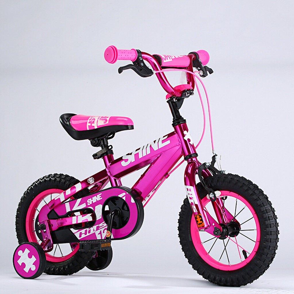 子供用自転車、6-12歳の男の子、女の子用自転車、18インチ、高さ115-150cm (Color : Rose red) B07D2G4CVD
