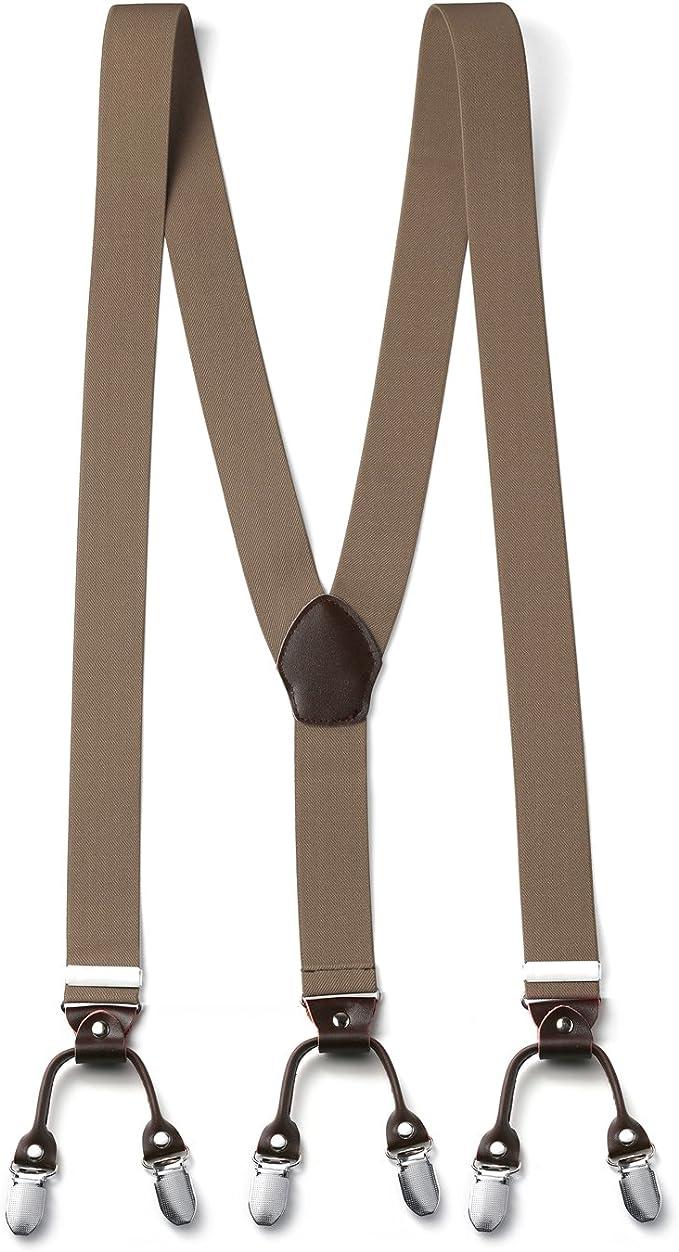 Unisexe Réglable bretelles bretelles Slim Pantalon Ceinture y Clip On Fancy Dress-Red