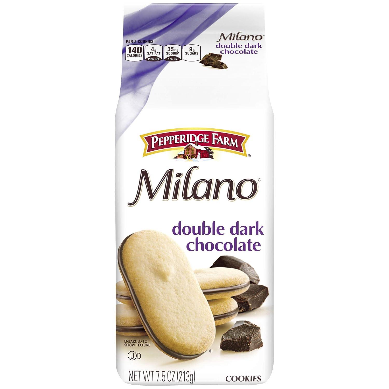 Pepperidge Farm Milano Double Dark Chocolate Cookies, 7.5 Ounce (Pack of 3)