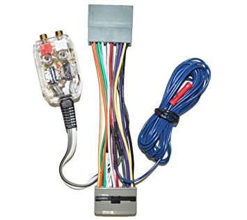 71v6c2ScEFL._SX355_ amazon com factory radio add amplifier amp interface adapter amp wiring harness at cos-gaming.co