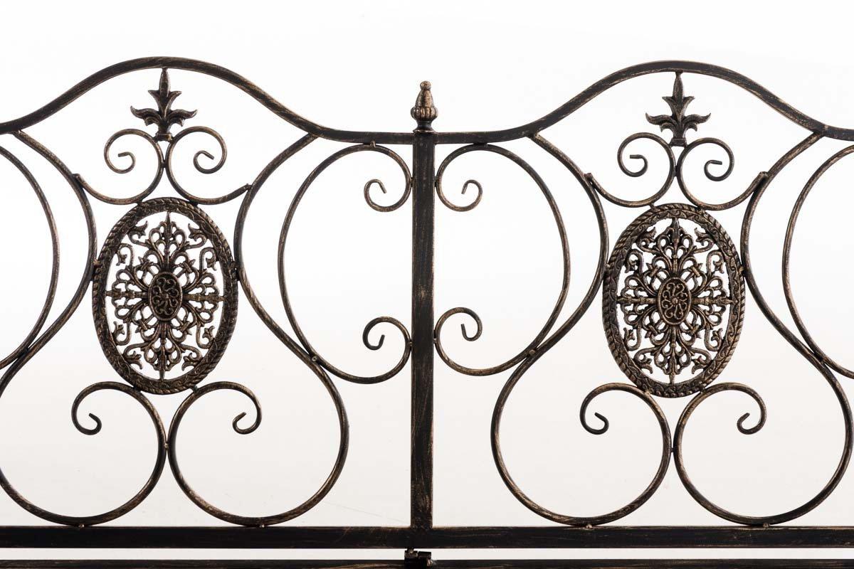 CLP Gartenbank Punjab Landhaus-Stil antik lackiertes Eisen ca Nostalgie 120 x 50 cm Bronze
