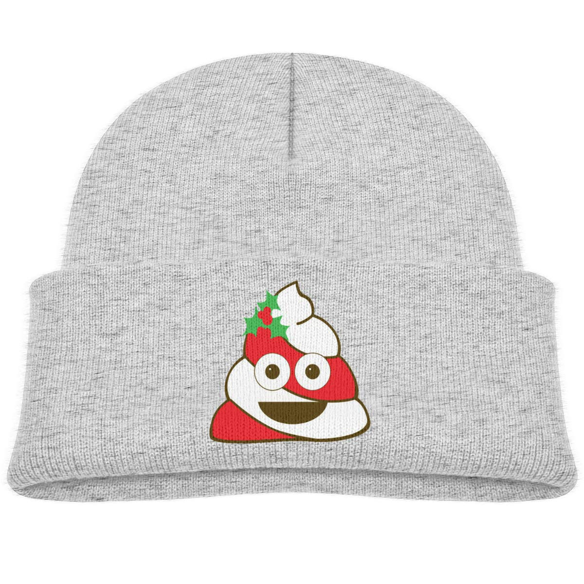 Hanfjj Kefdk Red and White Christmas Poop Infant Knit Hats Unisex Beanie Caps