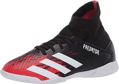 Adidas Kids' Predator 20.3 Indoor Soccer Shoe, Core Black/White/Active Red, 2