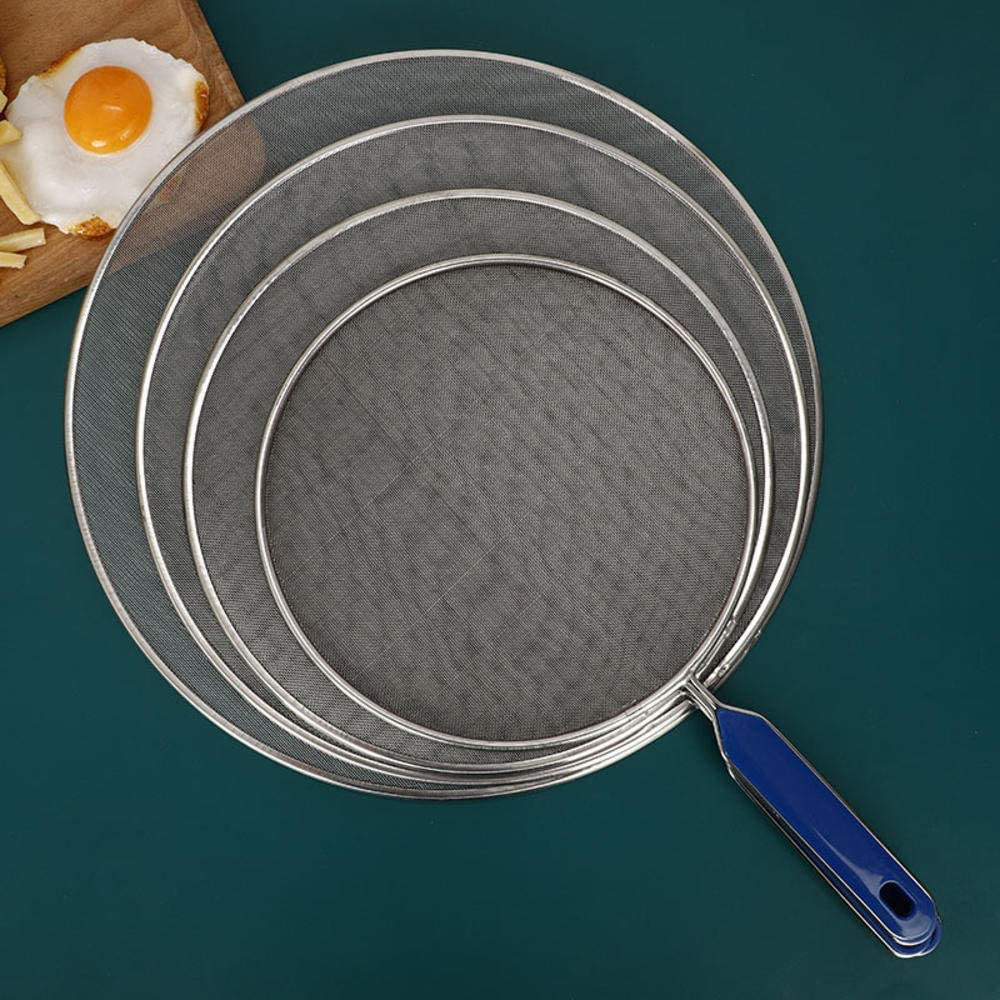 IUAQDP 4 Pieces Grease Splatter Screen for Frying Pan Cooking Mesh Stainless Steel Pan Pot Frying Oil Cooking Cover Skillet Lid