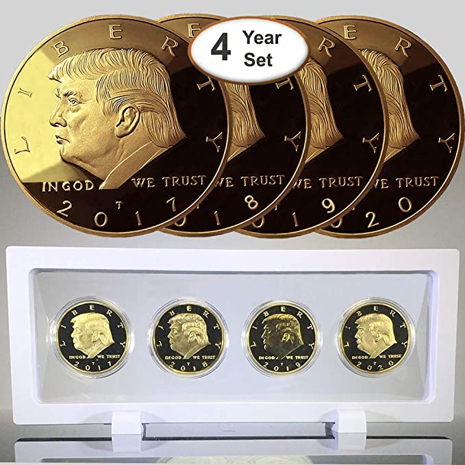 Amazon.com: Donald Trump Juego de 4 monedas de oro, edición ...