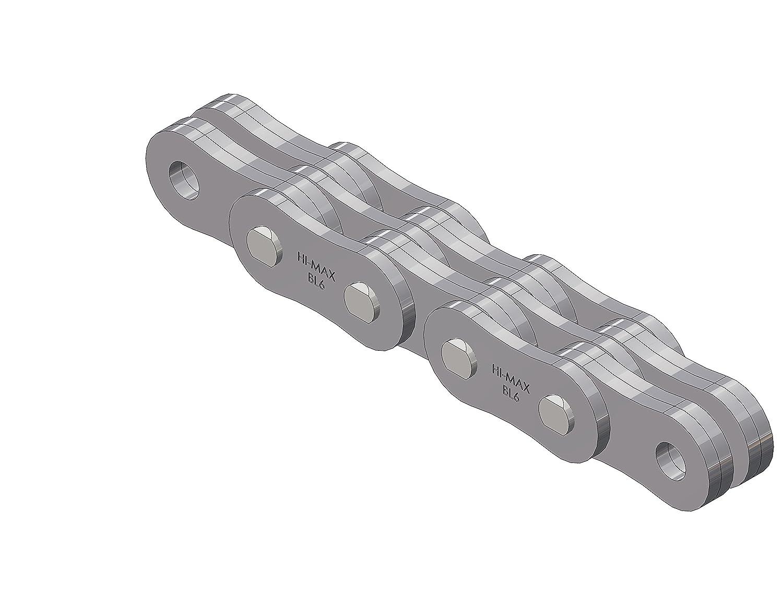 3 x 4 Lacing 3//4 Pitch Pack of 50 50 Reel Senqcia Hi-Max BL634HMR50 SENQCIA BL634 Riveted ASME//ANSI Leaf Chain