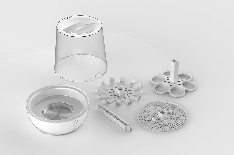 St/érilise 6 Biberons en 6 min Marque Europ/éenne Nuvita STERIEASY Pro Digital 1084 Compatible Biberons en Verre et Larges Sans BPA Sterilisateur Biberons Electrique /à Vapeur