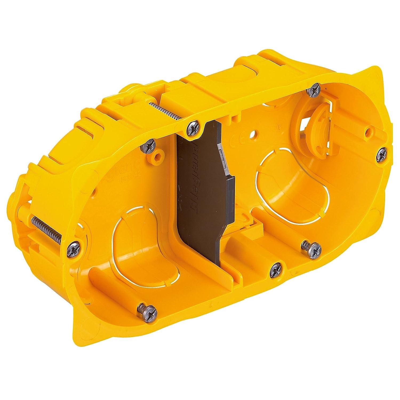 Legrand Batibox LEG90542 Caja de empotrar 2 elementos, panel de yeso, 40 mm de profundidad