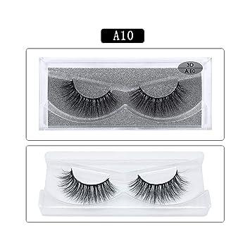 bc2899ff28c Amazon.com : Mink Eyelashes 3D Mink Lashes Thick HandMade Cilios Full Strip  Fake Eyelash Cruelty Free Luxury 1pair False Eyelashes, A10 : Beauty