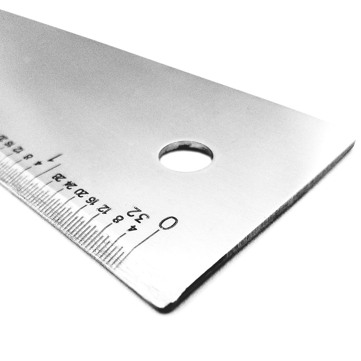 48'' Graduated Stainless Steel Straight Edge: 1/32nd INCH