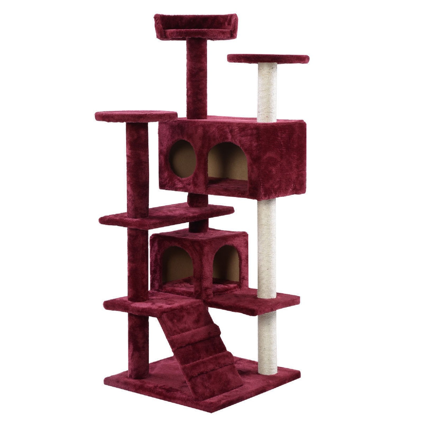 NEW! New Cat Tree Tower Condo Furniture Scratch Post Kitty Pet House Play Wine