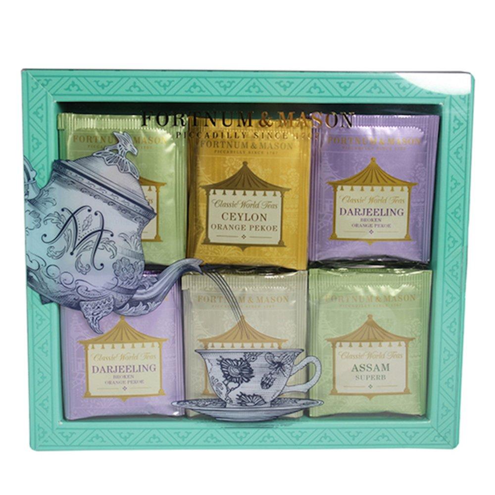 Fortnum & Mason British Tea, Classic World Tea Bag Selection, 60 Count Tea bags (1 Pack) NEW EDITION - USA Stock by Fortnum & Mason